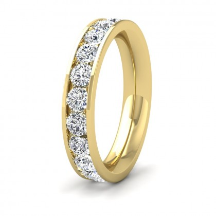 Full Channel Set 2ct Round Brilliant Cut Diamond 18ct Yellow Gold 4mm Ring