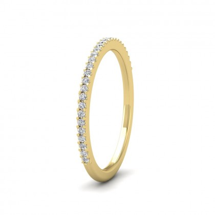 Round Claw 0.13ct Half Diamond Set 18ct Yellow Gold 1.5mm Ring