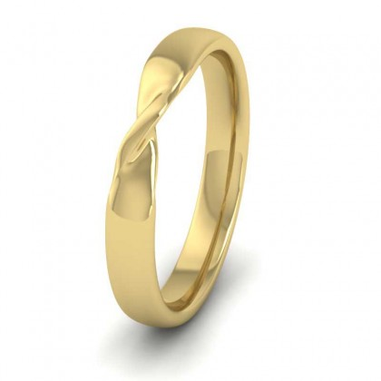 Twist 9ct Yellow Gold 3mm Wedding Ring