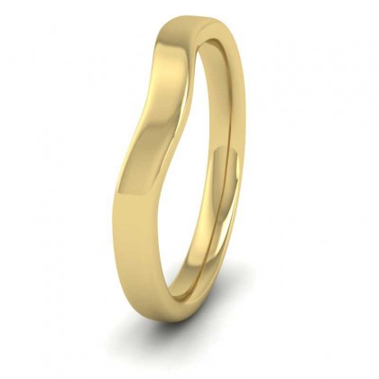 Shaped 9ct Yellow Gold 2.5mm Wedding Ring