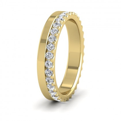 Assymetric Full Claw Set Diamond Ring (0.64ct) In 9ct Yellow Gold