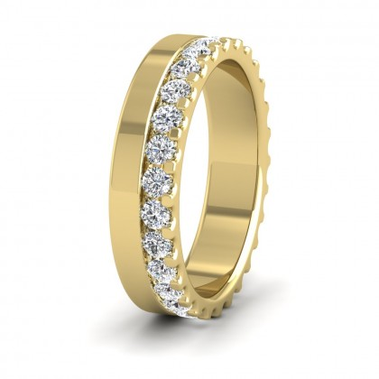 Assymetric Full Claw Set Diamond Ring (0.98ct) In 18ct Yellow Gold