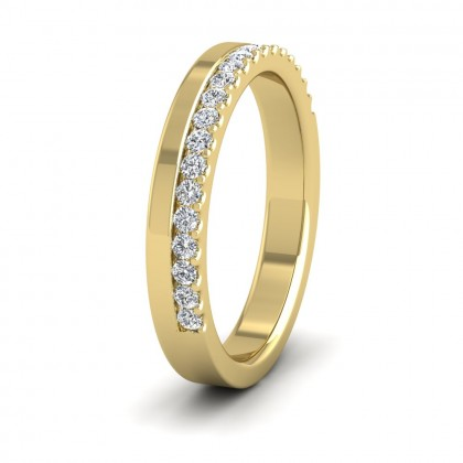 Assymetric Half Claw Set Diamond Ring (0.25ct) In 9ct Yellow Gold