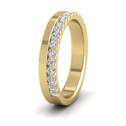 Assymetric Half Claw Set Diamond Ring (0.34ct) In 9ct Yellow Gold