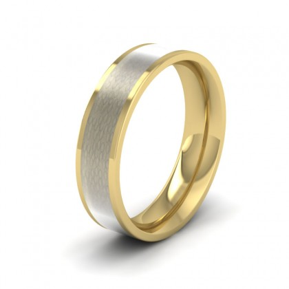 Mother Of Pearl Enamelled 18ct Yellow Gold 5mm Wedding Ring