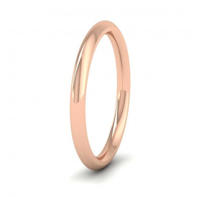 18ct Rose Gold 2mm Court Shape (Comfort Fit) Super Heavy Weight Wedding Ring