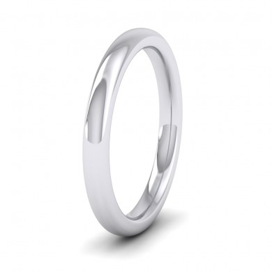 500 Palladium 2.5mm Cushion Court Shape (Comfort Fit) Super Heavy Weight Wedding Ring