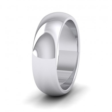 500 Palladium 6mm 'D' Shape Super Heavy Weight Wedding Ring