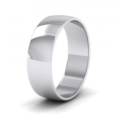 500 Palladium 6mm 'D' Shape Classic Weight Wedding Ring