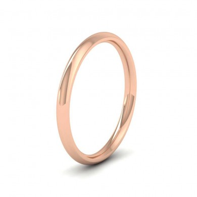 9ct Rose Gold 2mm Court Shape (Comfort Fit) Extra Heavy Weight Wedding Ring