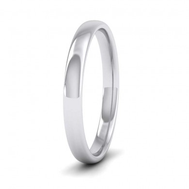 950 Palladium 2.5mm Cushion Court Shape (Comfort Fit) Classic Weight Wedding Ring