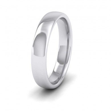 950 Palladium 4mm Cushion Court Shape (Comfort Fit) Extra Heavy Weight Wedding Ring