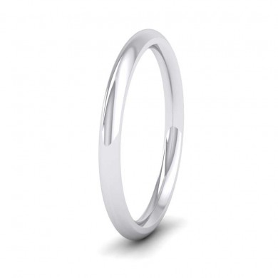 950 Palladium 2mm Court Shape (Comfort Fit) Super Heavy Weight Wedding Ring