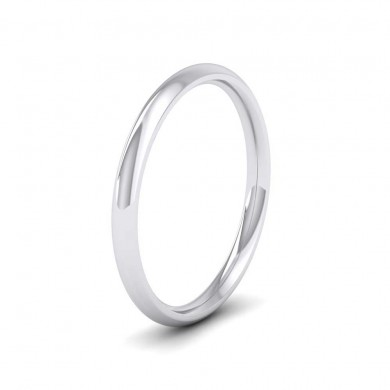 950 Palladium 2mm Court Shape (Comfort Fit) Extra Heavy Weight Wedding Ring
