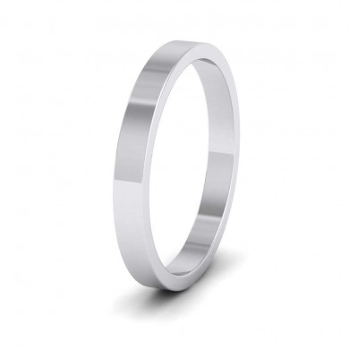 950 Palladium 2.5mm Flat Shape Extra Heavy Weight Wedding Ring