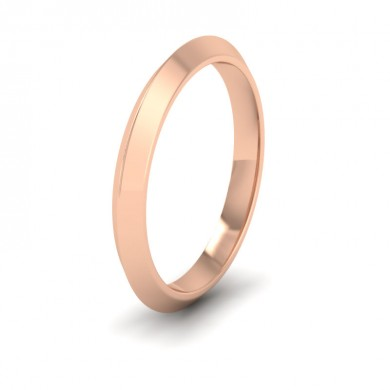 Knife Edge Shape 18ct Rose Gold 2.5mm Wedding Ring