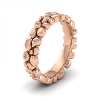 Pebbles 18ct Rose Gold 5mm Wedding Ring