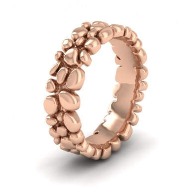 Pebbles 9ct Rose Gold 7mm Wedding Ring