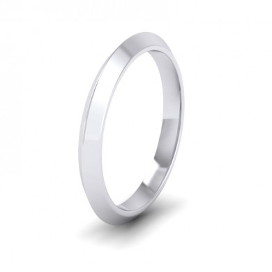 Knife Edge Shape 950 Palladium 2.5mm Wedding Ring