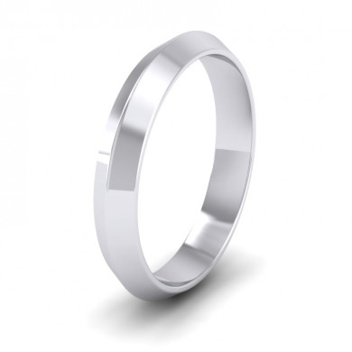 Knife Edge Shape 9ct White Gold 4mm Wedding Ring