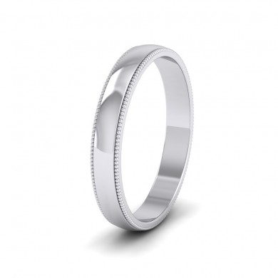 Millgrained Edge 18ct White Gold 3mm Wedding Ring