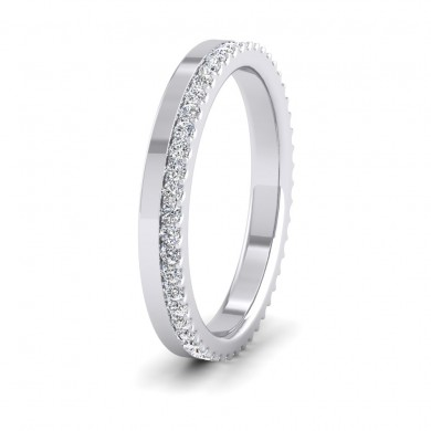 Assymetric Full Claw Set Diamond Ring (0.46ct) In 9ct White Gold