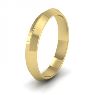 Knife Edge Shape 18ct Yellow Gold 4mm Wedding Ring