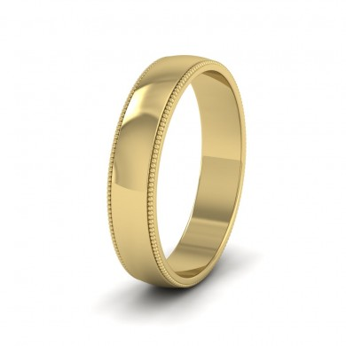 Millgrained Edge 18ct Yellow Gold 4mm Wedding Ring