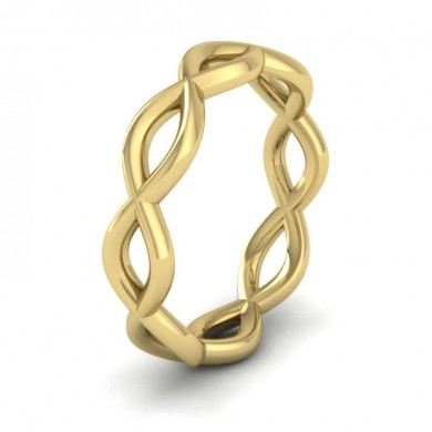 Double Twist 9ct Yellow Gold 4mm Wedding Ring