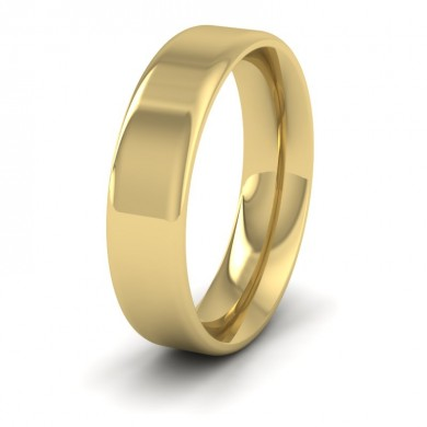 Rounded Edge 18ct Yellow Gold 5mm Wedding Ring