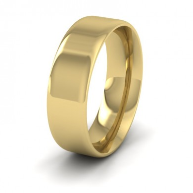 Rounded Edge 18ct Yellow Gold 7mm Wedding Ring