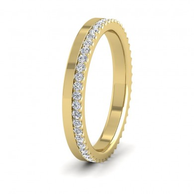 Assymetric Full Claw Set Diamond Ring (0.46ct) In 9ct Yellow Gold