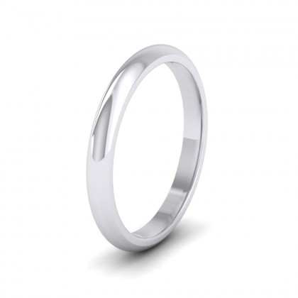 925 Sterling Silver 2.5mm 'D' Shape Extra Heavy Weight Wedding Ring