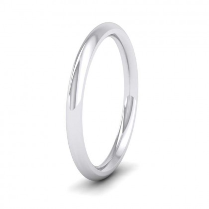 950 Platinum 2.5mm Court Shape (Comfort Fit) Super Heavy Weight Wedding Ring
