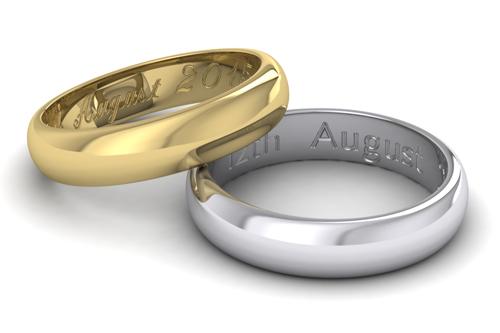 Wedding Ring Engraving Examples